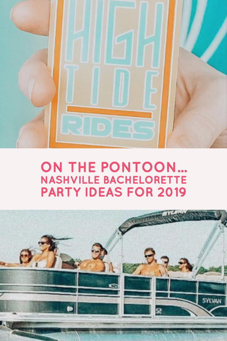 pontoon boat ride nashville bachelorette party
