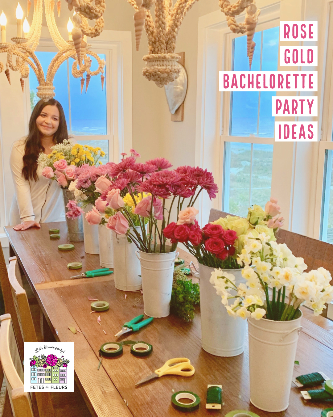 rose gold bachelorette party ideas