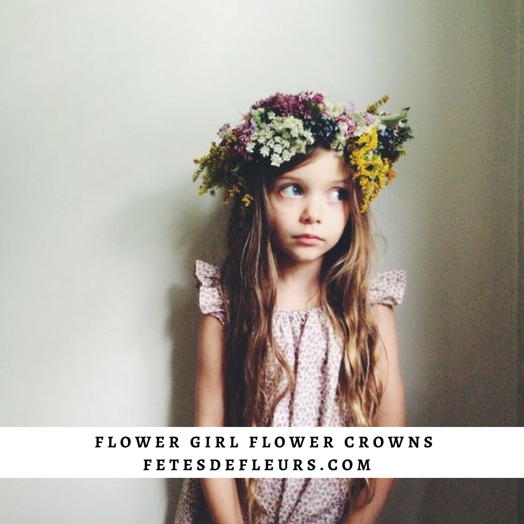 wild flower flower girl flower crown